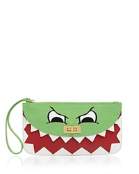 Moschino Cheap And Chic Moschino Cheap And Chic Clutch Patent Dino Face Green