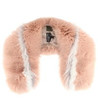 Mr And Mrs Italy Fur Stole Pink