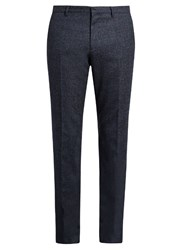 Paul Smith Slim Fit Wool Trousers Blue