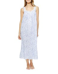 Eileen West Cotton Scalloped Neck Ballet Gown White