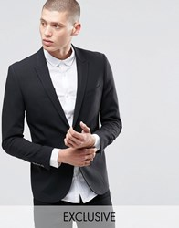 Only And Sons Skinny Blazer With Stretch Black
