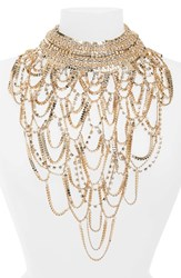 Natasha Bib Necklace Gold