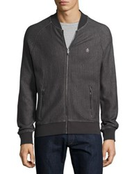 Original Penguin Herringbone Zip Front Jacket Gray