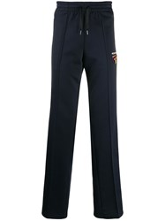 Missoni Side Stripe Track Trousers Blue