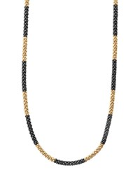 Lagos 18K Gold And Black Caviar Necklace 16 L