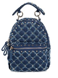Valentino Garavani Spike Denim Backpack