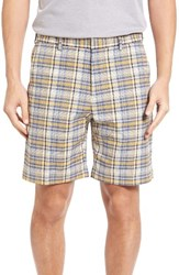 Bobby Jones Men's Big And Tall Plaid Tech Chino Shorts Summer Navy