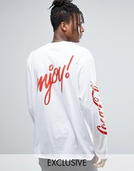 Reclaimed Vintage X Coca Cola Oversized Long Sleeve T Shirt White