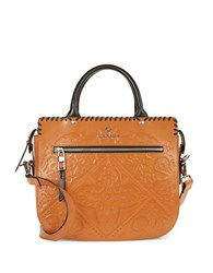 Nanette Lepore Highland Park Leather Satchel Tan