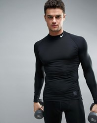 Nike Training Compression Long Sleeve Top With Turtle Neck In Black 703090 010 Black