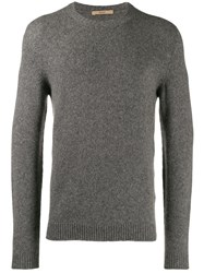 Nuur Fine Knit Sweatshirt Grey