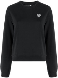 Love Moschino Heart Plaque Sweatshirt Black