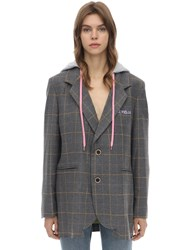 Natasha Zinko Wool Blend Jacket Grey
