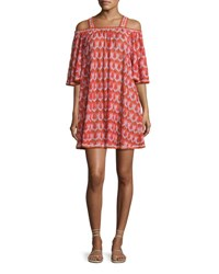 Missoni Mare Cold Shoulder Coverup Dress Pink