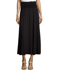 Max Studio Fold Over Jersey Knit Skirt Black