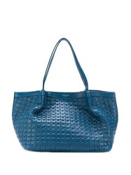 Serapian Textured Tote Blue