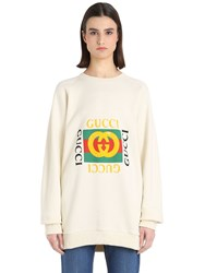 Gucci Logo And Embroidery Cotton Sweatshirt