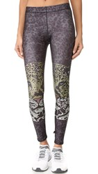 Terez Crystal Leopard Performance Leggings Multi