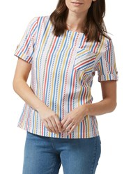 Sugarhill Boutique Petra Candy Stripe Top Multi