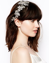 Love Rocks Articulated Flower Hair Clip Silve