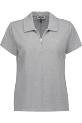 Opening Ceremony Torch Cotton Blend Pique Polo Shirt Gray