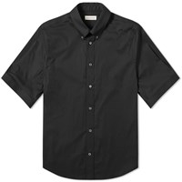 Alexander Mcqueen Short Sleeve Studded Collar Shirt Black
