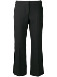 Alexander Mcqueen Cropped Tuxedo Trousers Black