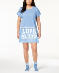 By Jennifer Moore Plus Size Graphic Sleepshirt And Socks Created For Macy's Delft