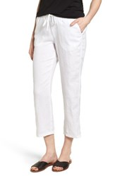 Caslonr Women's Caslon Linen Crop Pants White