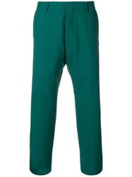 Ami Alexandre Mattiussi Straight Fit Trousers Green