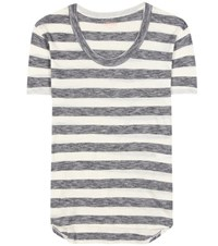 81 Hours Gia Striped Cotton T Shirt White