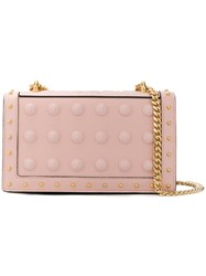 Balmain Love Button Embellished Shoulder Bag Nude And Neutrals