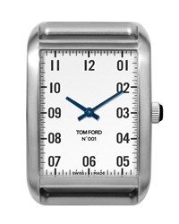 Tom Ford Large Brushed Stainless Steel Watch Head Silver