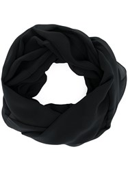 D.Exterior Pull On Wrap Scarf Black