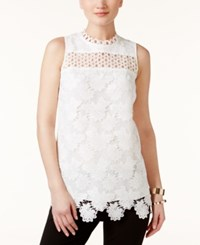 Alfani Prima Lace Shell Only At Macy's Soft White