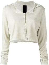 Rundholz Black Label Cropped Cardigan Nude Neutrals