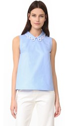 Carven Sleeveless Top Bleu Clair