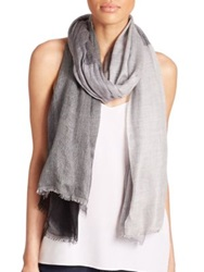 Tilo Oversized Checked Cashmere And Silk Blend Scarf Grey