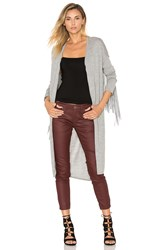 One Teaspoon The Sloan Fringe Cardigan Gray