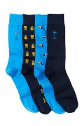 Tommy Bahama Island Time Crew Socks Pack Of 4 Asst