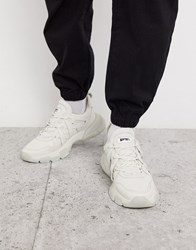 Bronx Sevety Street Trainers In Cream With Chunky Sole