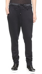 Public School Ankle Pant With Charmeuse Waistband Black