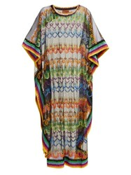 Missoni Mare Embroidered Mesh Kaftan Black Multi