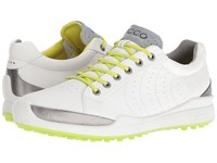 Ecco Biom Hybrid Hydromax White Lime Punch Men's Lace Up Casual Shoes