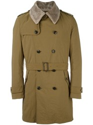 Tokyo Firenze Padded Trench Coat Green