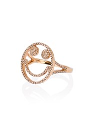 Rosa De La Cruz Rose Gold And Diamond Smile Ring Metallic