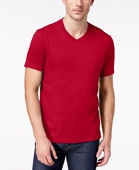 Club Room Men's Solid V Neck T Shirt Created For Macy's Fire
