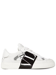 Valentino 20Mm Vl7n Leather Sneakers White