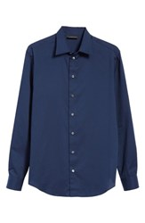 Emporio Armani Slim Fit Solid Dress Shirt Ink Well