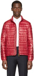 Burberry Red Lightweight Quilted Down Jacket
